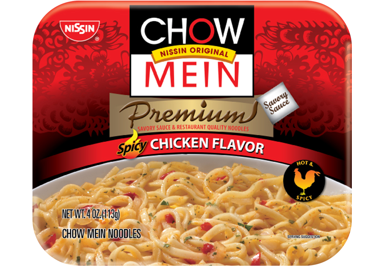 nissin chow mein spicy chicken flavor