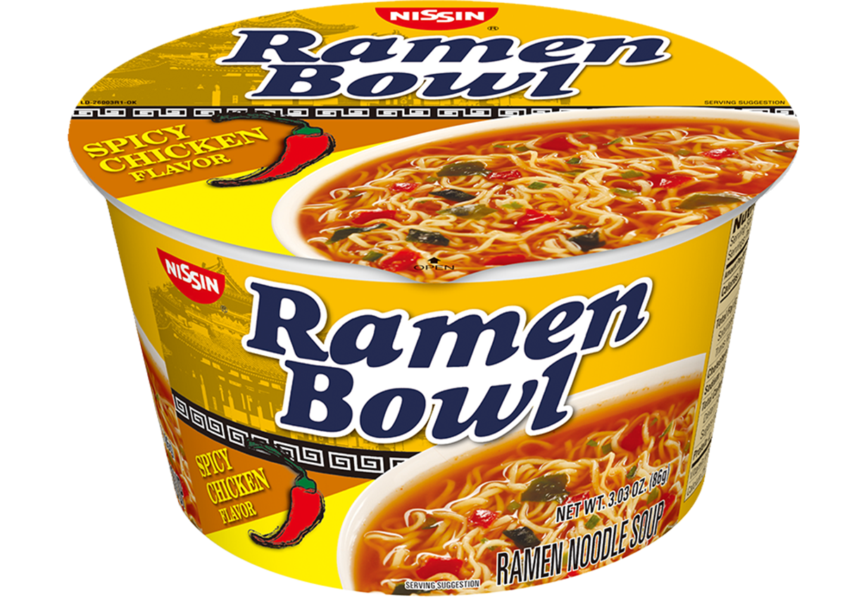 nissin ramen bowl spicy chicken flavor