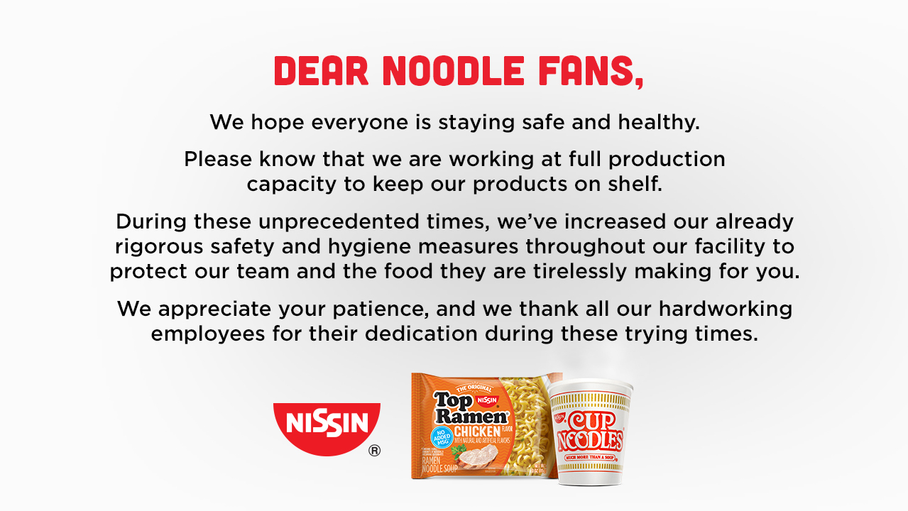 Nissin Covid Banner