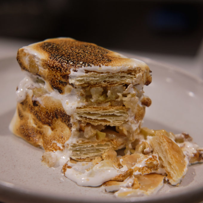 Top Ramen Yuzu Pear Mille Feuille 1