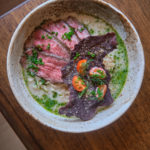Mushroom Paitan With Tritip Chive And Dill Oil Top Ramen Black Rice Chip 2