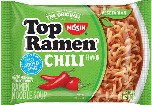 top ramen vegetarian chili flavor